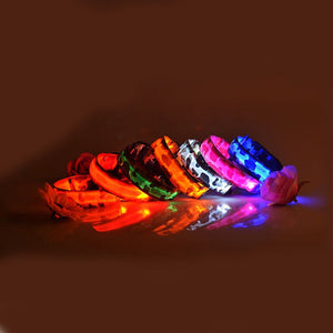 RECHARGEABLE Camouflage LED Pet Dog Glow Collar