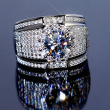 Load image into Gallery viewer, Sterling Silver Big Zircon Stone Ring