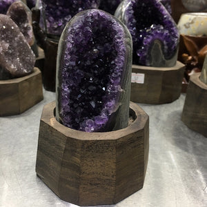 Uruguay Purple Amethyst Hole Quartz Crystal
