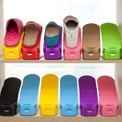 Closet Space Saving Adjustable Shoe Organizer