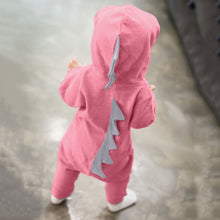 Load image into Gallery viewer, Dinosaur Hoodie Romper Zip Jumpsuit for boys and girls 0-18 months