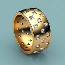 Load image into Gallery viewer, Men's Gold Zircon Ring