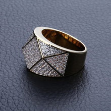 Load image into Gallery viewer, Diamond shaped Cubic Zirconia -  Polygon Personality Men's Ring