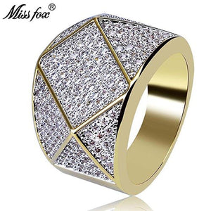 Diamond shaped Cubic Zirconia -  Polygon Personality Men's Ring