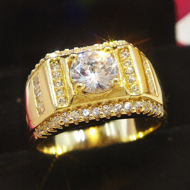 Cubic Zirconia Men's Ring