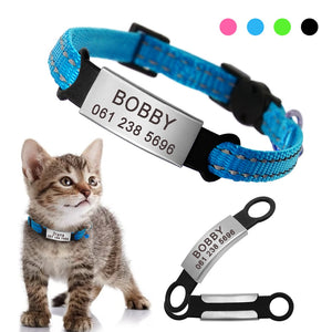 Quick Release and Adjustable Reflective Breakaway Safety Cat Collar With Bell