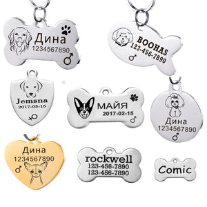 Stainless Steel Customized Pet ID Tag
