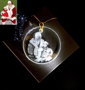 Crystal Photo Ornament