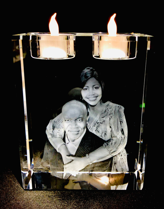 3D Crystal Photo Candle