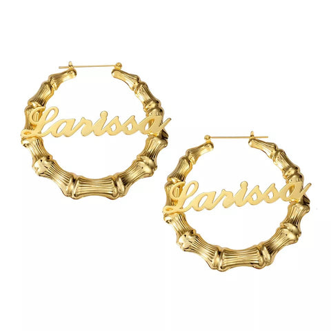 Bamboo Queen Hoops