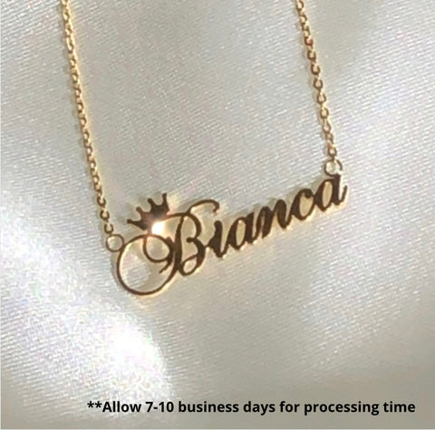 Crowned Name Necklace