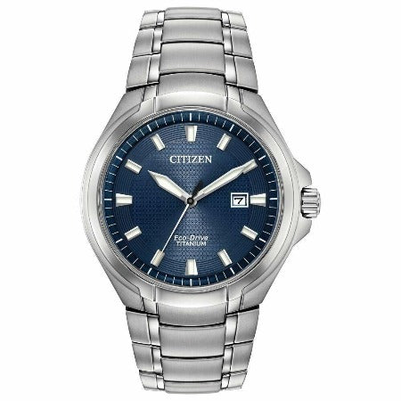 New Citizen Paradigm Eco Drive Blue Dial 43mm Men's Titanium Watch BM7431-51L - luxfinejewellery