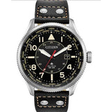 New Citizen Promaster NightHawk Black Dial Leather Band Men's Watch BX1010-02E - luxfinejewellery