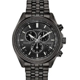New Citizen Brycen Eco Drive Black Dial Perpetual Chrono Men's Watch BL5567-57E - luxfinejewellery