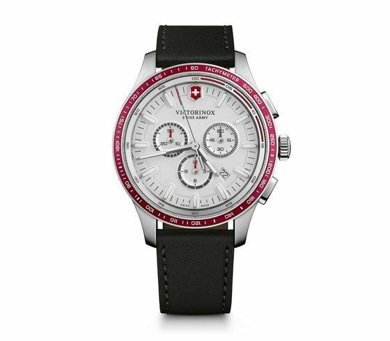 Victorinox Alliance Sport Chronograph White Dial Leather Band Men's Watch 241819 - luxfinejewellery