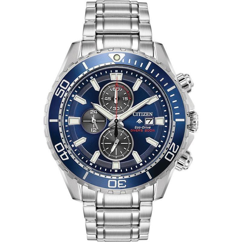 New Citizen Promaster Diver Eco Drive ST Steel Blue Dial Men's Watch CA0710-82L - luxfinejewellery