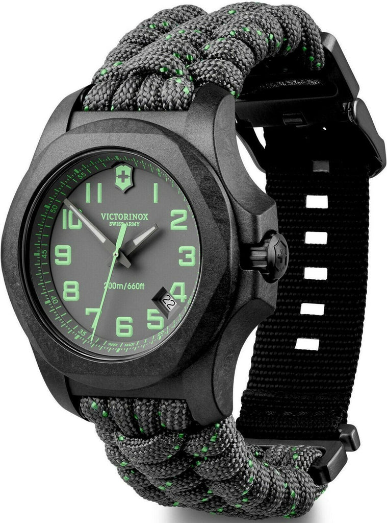 New Victorinox INOX Carbon Gray Dial Paracord Style Men's Watch 241861 - luxfinejewellery