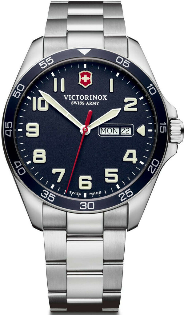 Victorinox Swiss Army FieldForce Stainless Steel Blue Dial Men's Watch 241851 - luxfinejewellery