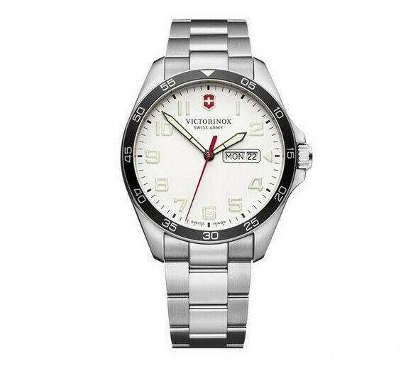Victorinox Swiss Army FieldForce Stainless Steel White Dial Men's Watch 241850 - luxfinejewellery