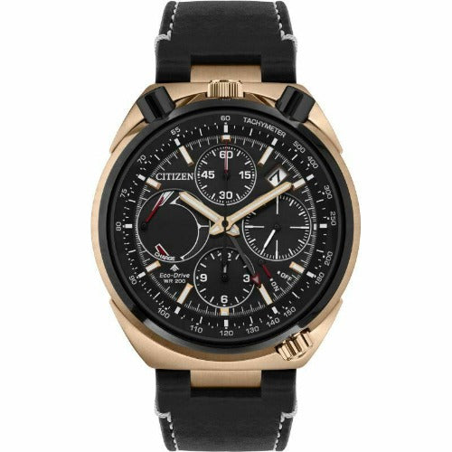 Citizen Tsuno Chrono LIMITED EDITION Eco Drive Black Dial Men's Watch AV0073-08E - luxfinejewellery