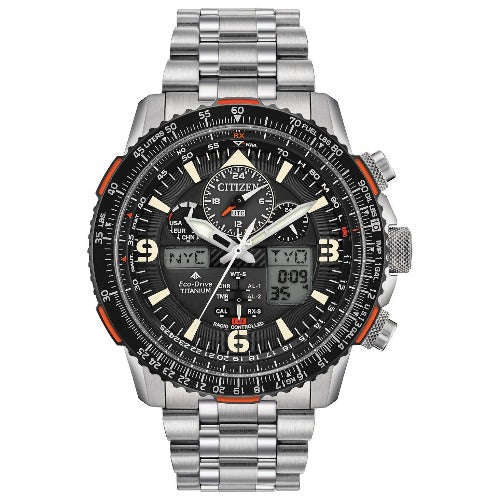 New Citizen PROMASTER SkyHawk AT Black Dial Men's Titanium Watch JY8108-53E - luxfinejewellery