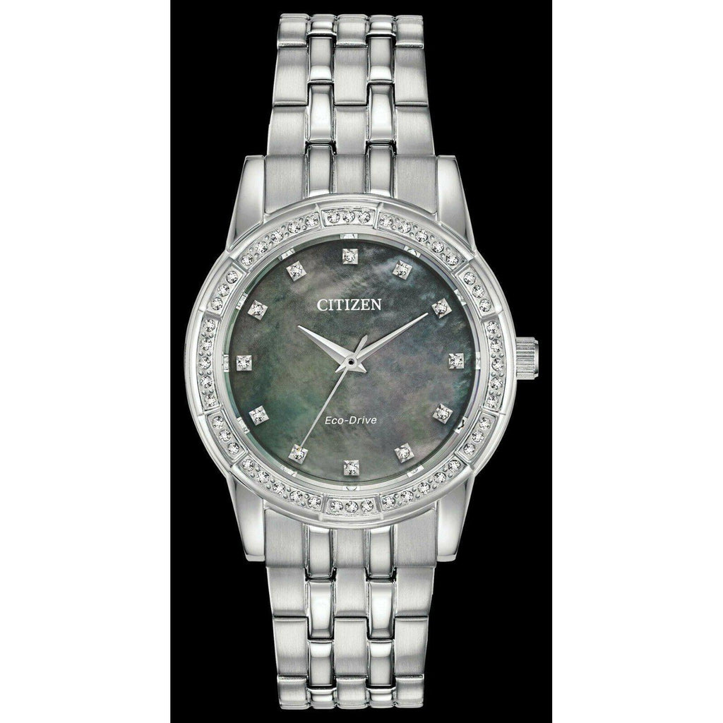 Citizen SILHOUETTE CRYSTAL Eco Drive Mother of Pearl Women's Watch EM0770-52Y - luxfinejewellery