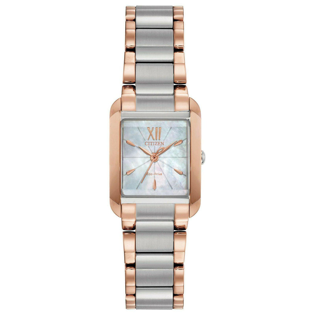 Citizen BIANCA Eco Drive ST Steel Mother of Pearl Dial Women's Watch EW5556-52D - luxfinejewellery