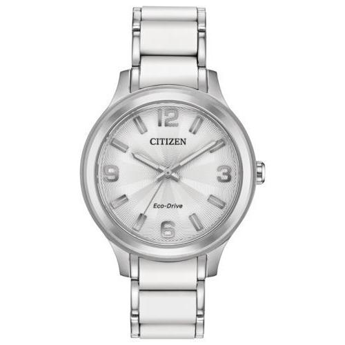 Citizen DRIVE Eco Drive Stainless Steel Silver Dial Women's Watch FE7070-52A - luxfinejewellery
