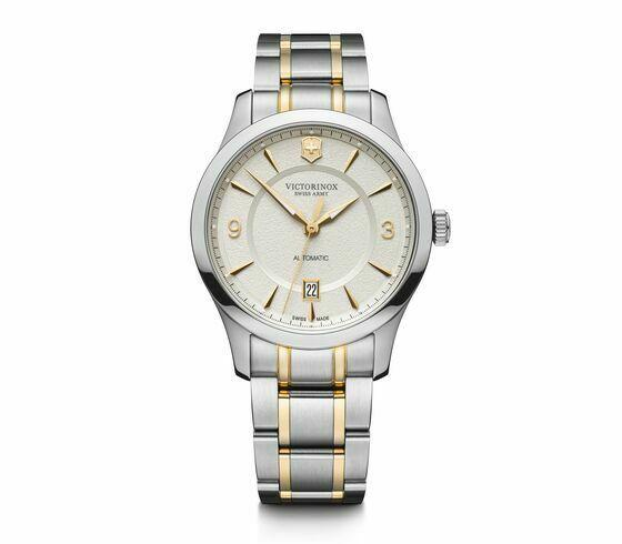 Victorinox Swiss Army Alliance Mechanical ST Steel White Dial Men Watch 241874 - luxfinejewellery