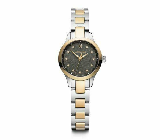 New Victorinox Alliance XS Stainless Steel Black Dial Women's Watch 241876 - luxfinejewellery