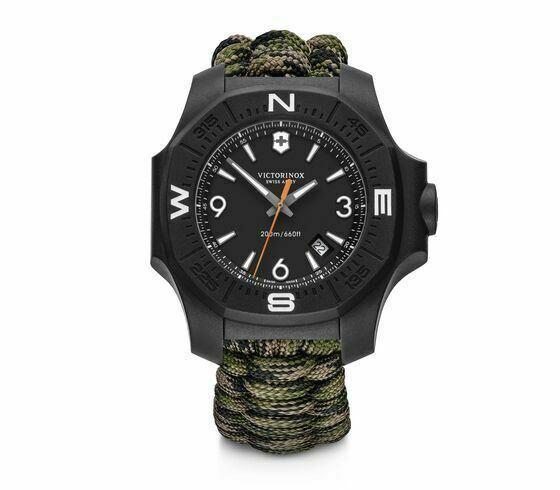 New Victorinox INOX Autumn Spirit Green Dial Paracord Style Men's Watch 241894-luxfinejewellery