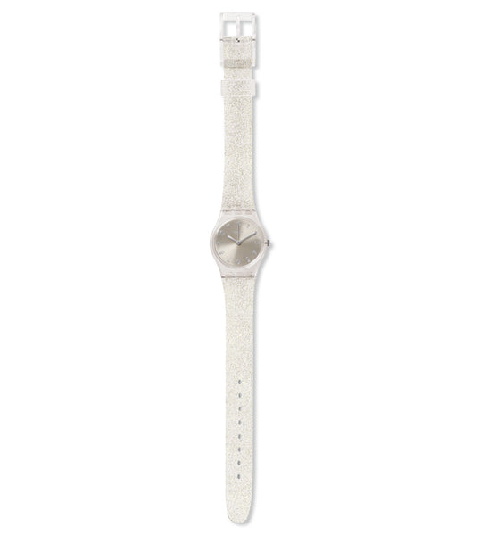 Swatch Silver Glistar Too Quartz Wristwatch LK343E