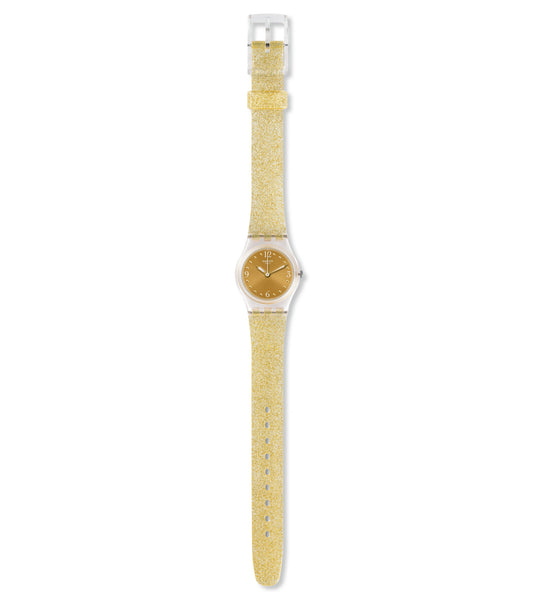 Swatch Golden Glistar Too Quartz Wristwatch LK382