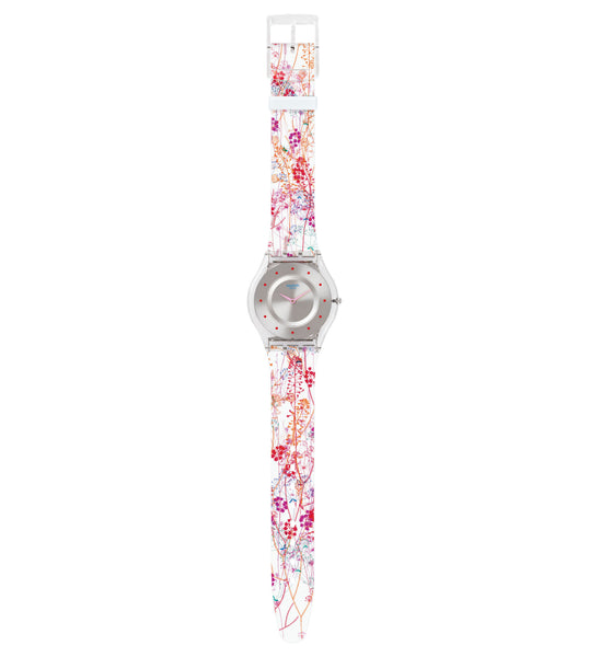 Swatch Jardin Fleuri Quartz Wristwatch SFE102