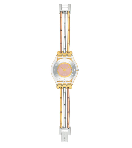 Swatch Tri-Gold Quartz Wriswatch SFK240