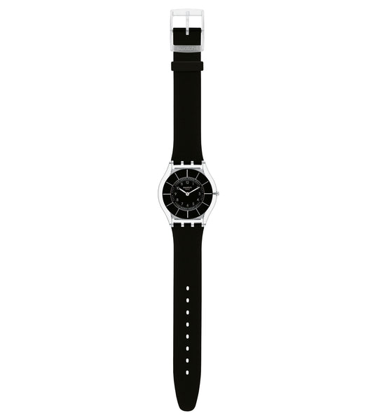 Swatch Black Classiness Quartz Wristwatch SFK361