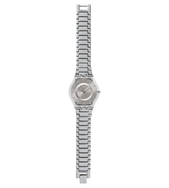Swatch Silver Drawer Quartz Wristwatch SFK393G