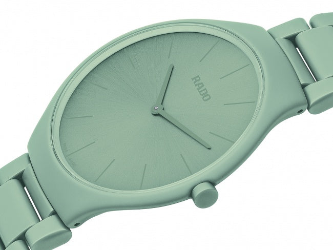 RADO  TRUE THINLINE LES COULEURS™ LE CORBUSIER SLIGHTLY GREYED ENGLISH GREEN 32041 R27096662