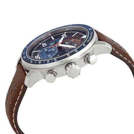 Citizen Brycen Men's Eco Drive Blue Dial Brown Leather Strap Watch CA0648-09L - luxfinejewellery