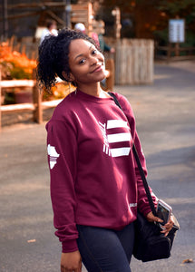 EQUALL Maroon Crewneck Sweater (Unisex)
