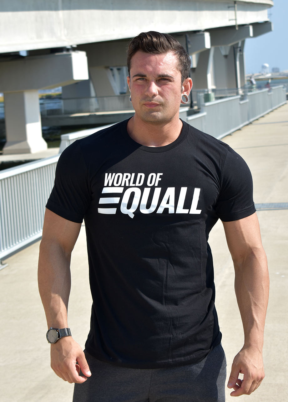World of EQUALL Black T-Shirt