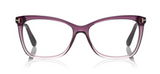 Thin Butterfly Optical Frame In Violet