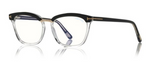 Blue Block Soft Square Opticals in Black