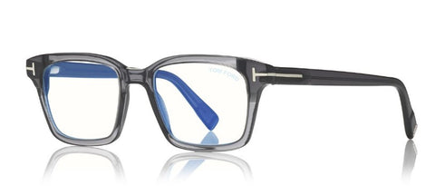 Blue Block Square Opticals in Grey
