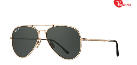 Ray-Ban AVIATOR TITANIUM Pilot Women Sunglasses - rossetti-glasses