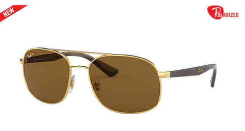 Ray-Ban RB3593  Polarized Square Men Sunglasses - rossetti-glasses