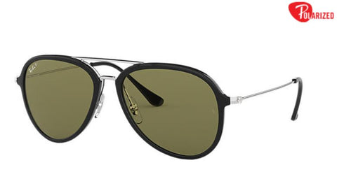Ray-Ban RB4298 Black Nyon Green Polarized Lense - Drizik Eyecare