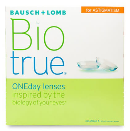 Bausch & Lomb Biotrue ONEday for Astigmatism (90 pack) - Drizik Eyecare