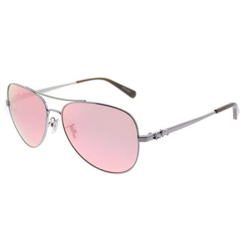 Coach Horse And Carriage Metal Pilot Sunglasses L1648 - rossetti-glasses