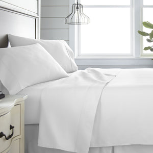 Sheets, 4-Piece 300 Thread Count Cotton Sheet Set, Linens And Hutch